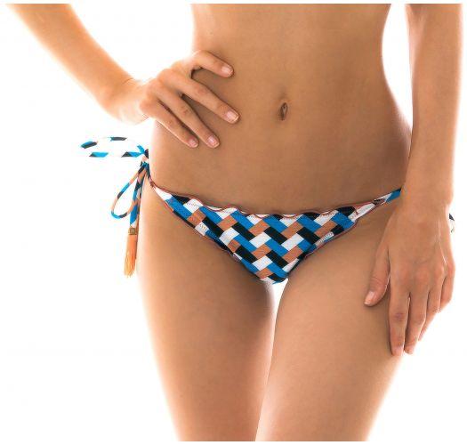 Bikiniunterteil mit seitlicher Schnürung und geometrischem Print - BOTTOM GEOMETRIC FRUFRU