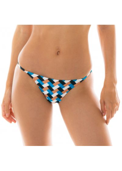 Reglerbarskrynklad nederdel i flerfärgat geometriskt mönster - BOTTOM GEOMETRIC TRI INVISIBLE