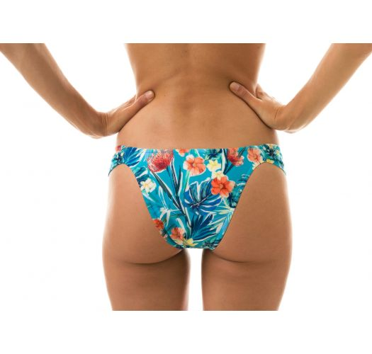 Floral blue fixed bikini bottoms - BOTTOM ISLA BAND COMFORT