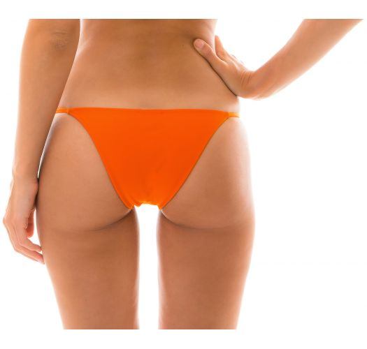 Orange adjustable Brazilian bikini bottom - BOTTOM KING ARG FIXO