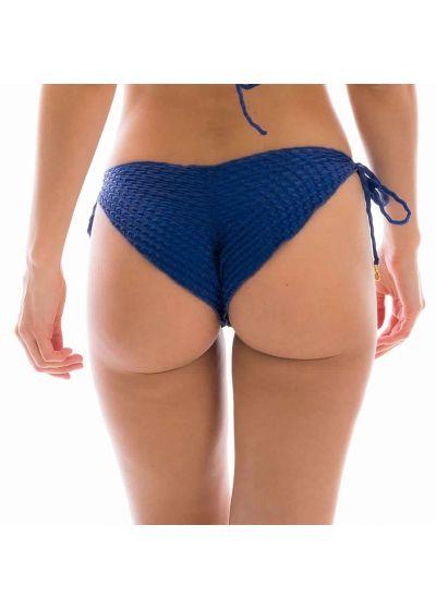 Blue textured scrunch bikini bottom - BOTTOM KIWANDA DENIM FRU COMFORT