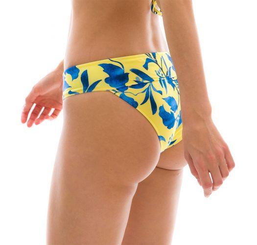 Yellow & blue fixed bikini bottom - BOTTOM LEMON FLOWER COS COMFORT