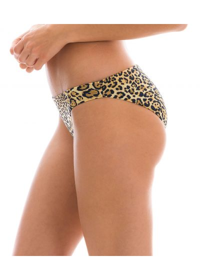 Fixed comfort cut bikini bottom with leopard print - BOTTOM LEOPARDO BA COMFORT