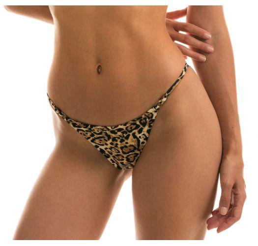 Adjustable Brazilian scrunch bikini bottom leopard - BOTTOM LEOPARDO INVISIBLE