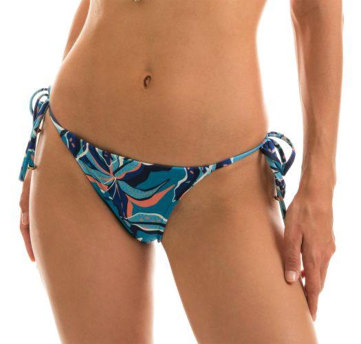 Blue and pink printed side-tie bikini bottom - BOTTOM LILLY TRI ARG