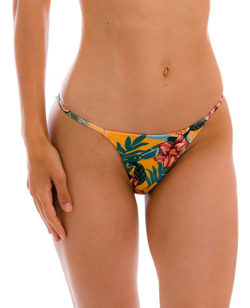Orange-yellow cheeky Brazilian bikini bottom with slim sides - BOTTOM LIS CHEEKY-FIXA