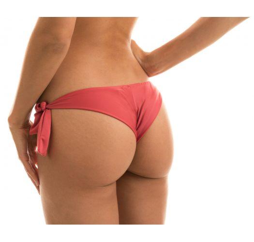 Brick color side-tie Brazilian bikini bottom - BOTTOM MADRAS BANDEAU