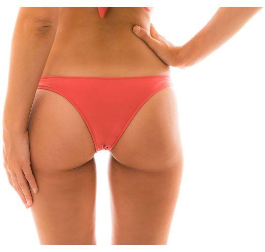 Dark red fixed bikini bottom - BOTTOM MADRAS CORTINAO