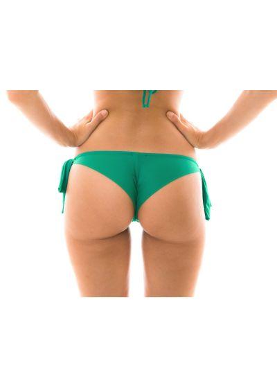 Green side-tie Brazilian bikini bottom - BOTTOM MALAQUITA BABADO
