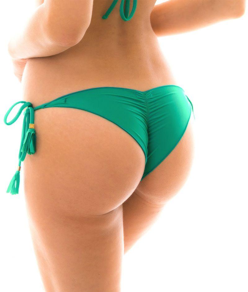 Green side-tie scrunch Brazilian bikini bottom - BOTTOM MALAQUITA EVA