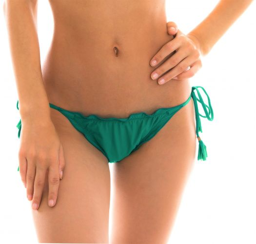 Green side-tie scrunch string bikini bottom - BOTTOM MALAQUITA EVA MICRO