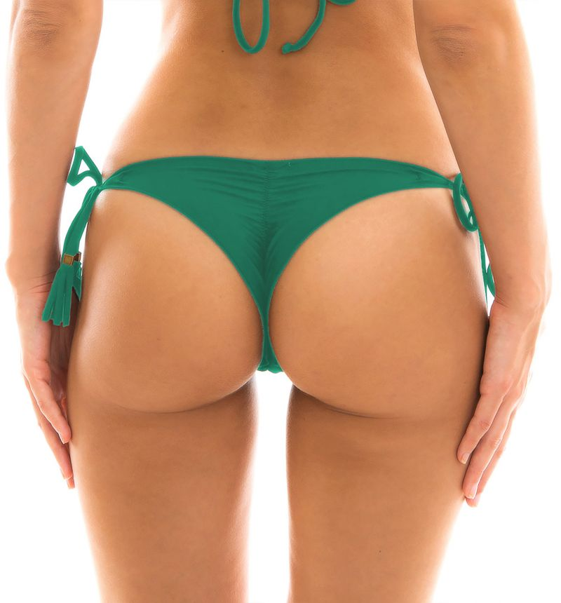 Green side-tie scrunch string bikini bottom - BOTTOM MALAQUITA EVA MICRO