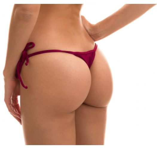 Plum side-tie string bikini bottom - BOTTOM MARSALA TRI MICRO