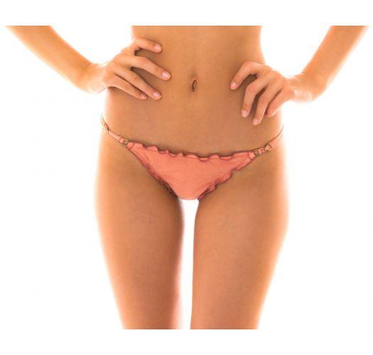 Pink peach side-adjustable bikini bottom - BOTTOM MAXI FLOWER BABADO