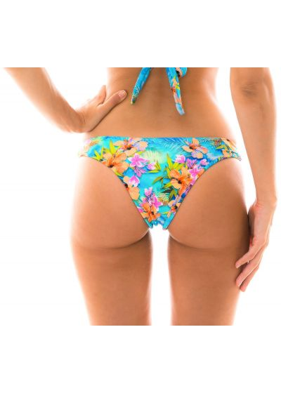 Colorful fixed bikini bottom - BOTTOM MAXI FLOWER TRANSPASSADO