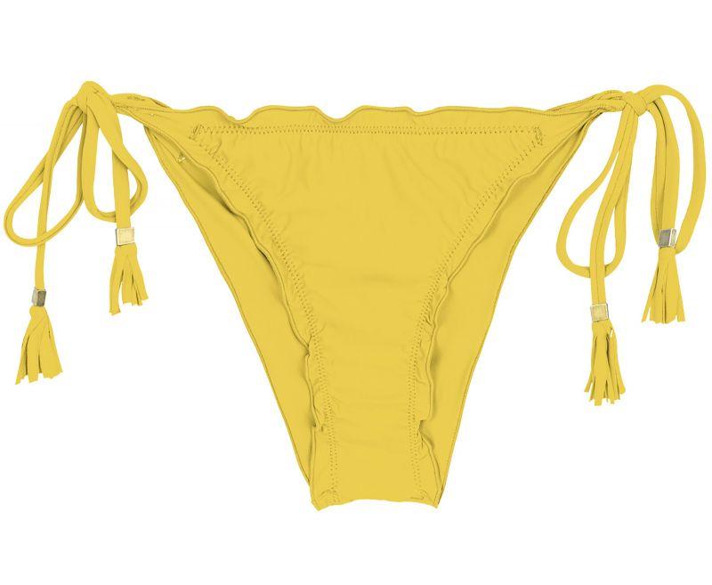 Yellow side-tie scrunch bikini bottom - BOTTOM MELON EVA