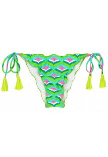 Graphic print scrunch bikini bottom - BOTTOM MERMAID FRUFRU