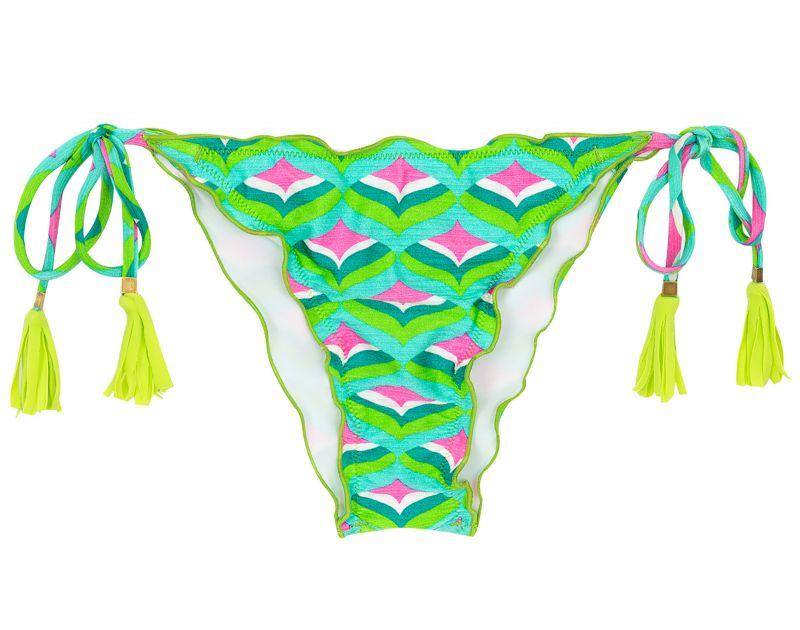 Skrynklad bikininederdel med grafiskt tryck - BOTTOM MERMAID FRUFRU