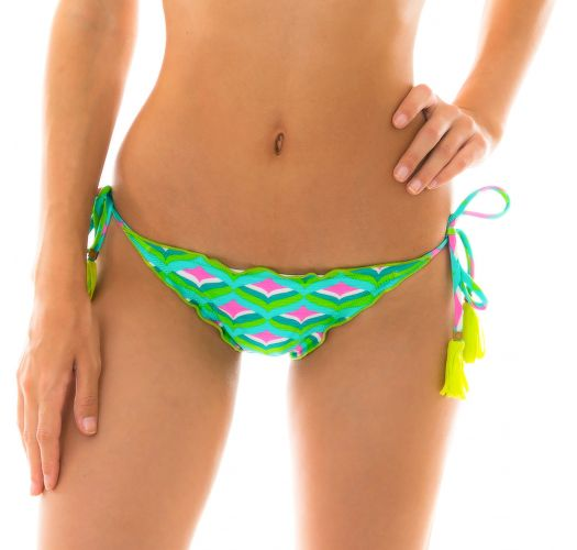 Scrunch-Bikiniunterteil mit graphischem Print - BOTTOM MERMAID FRUFRU