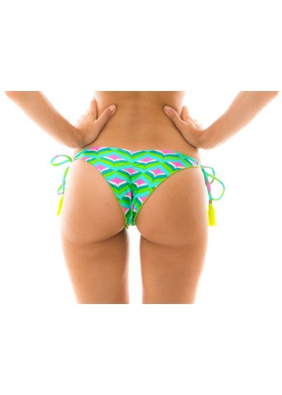 Graphic print scrunch bikini bottom - BOTTOM MERMAID FRUFRU