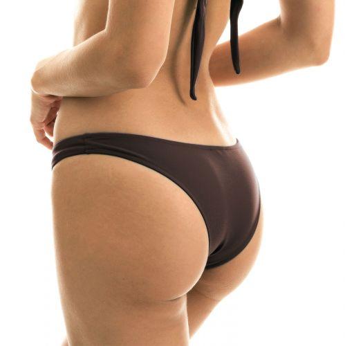 Iridescent brown high-leg bikini bottom - BOTTOM METEORITE BANDEAU
