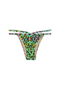 Colourful leopard print strappy Brazilian bikini bottoms - BOTTOM MORUMBI CROPPED