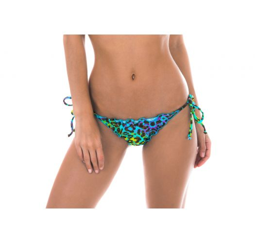 Multicoloured leopard print scrunch Brazilian bikini bottoms - BOTTOM MORUMBI FRUFRU