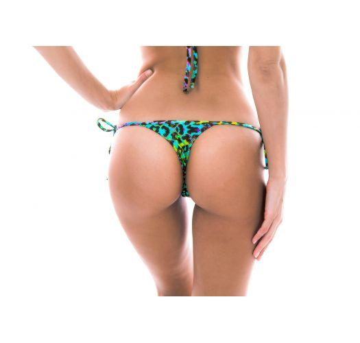 Mikro-Bikinihose, Leopardenmuster vielfarbig - BOTTOM MORUMBI MICRO