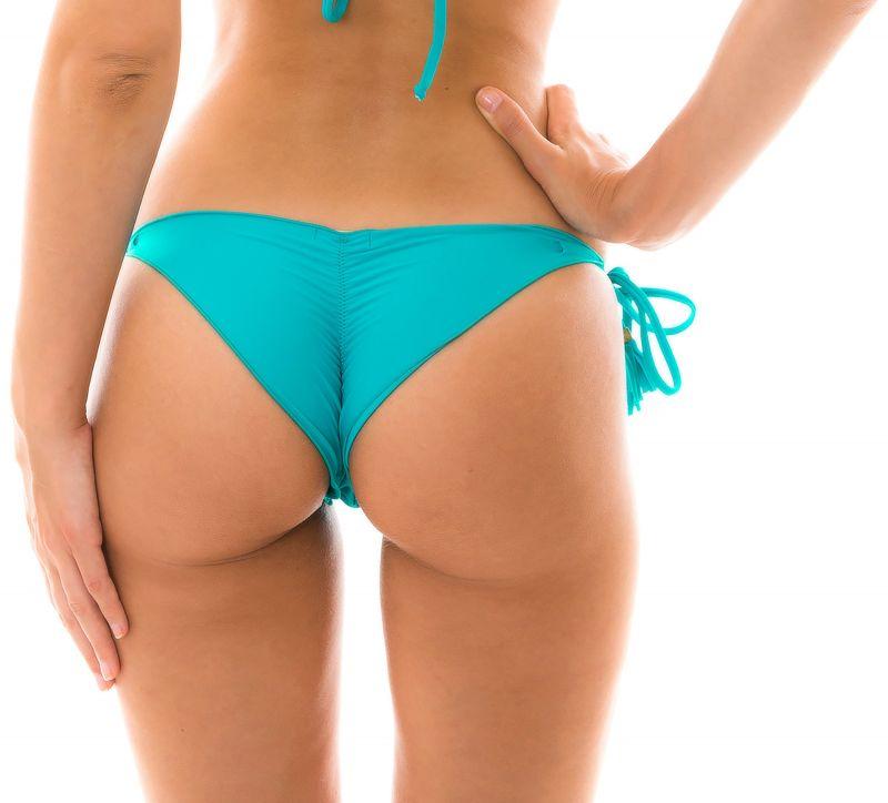 Himmelsblå skrynklad brasiliansk nederdel med tofsar - BOTTOM NANAI EVA