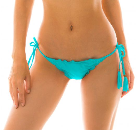 Turquoise side-tie string bikini bottom - BOTTOM NANAI EVA MICRO