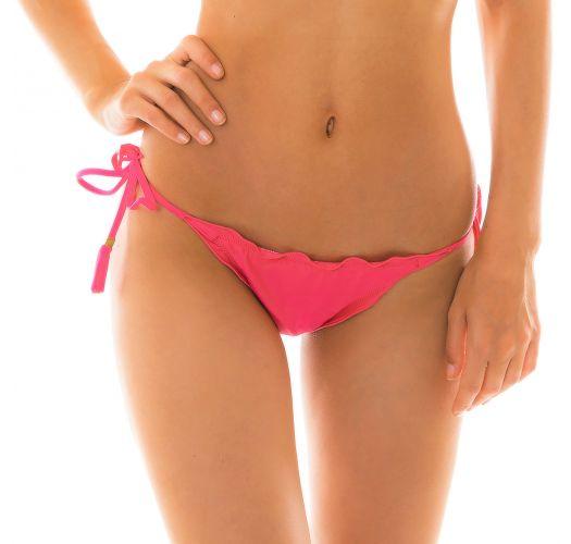Fuchsienrosanes Bikini-Top, gewellte Ränder - BOTTOM OLINDA EVA