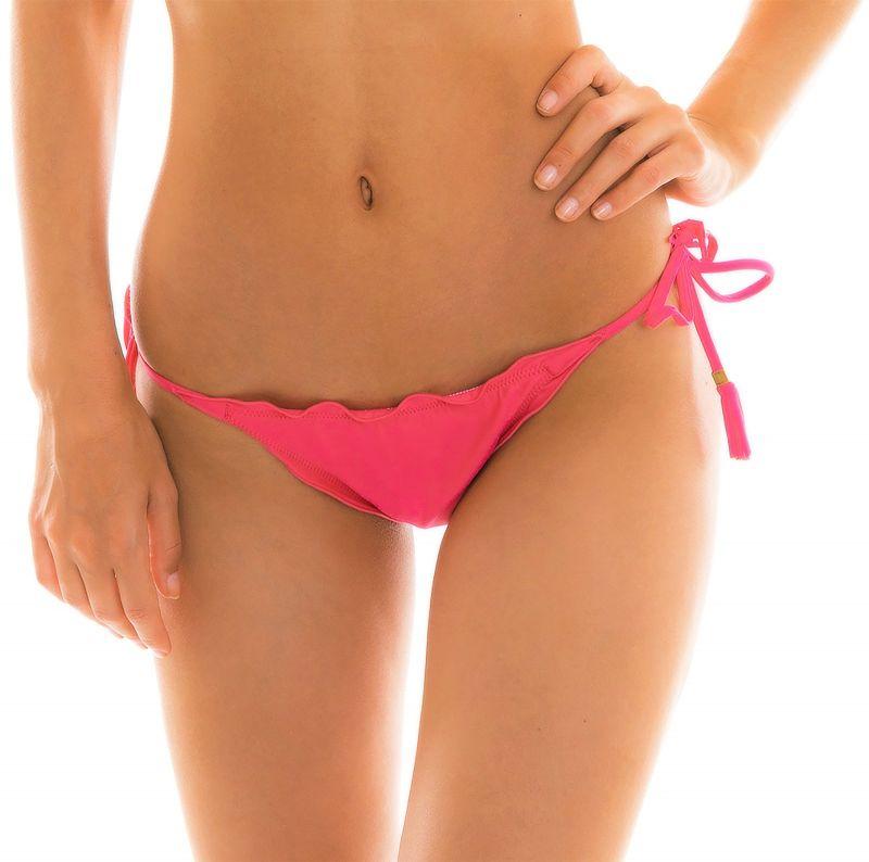 String bikini bottom with wavy edges -fuchsia - BOTTOM OLINDA EVA MICRO