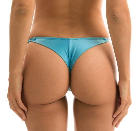 Sky blue side-tie string bikini bottom - BOTTOM ORVALHO BANDEAU MICRO