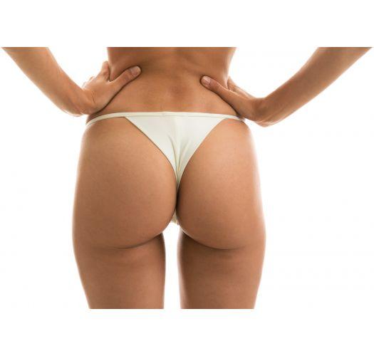 Off-white adjustable thong bikini bottom - BOTTOM PEROLA TRI ARG MICRO