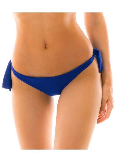 Marinblå brasiliansk nederdel med knytband - BOTTOM PLANET BLUE BABADO