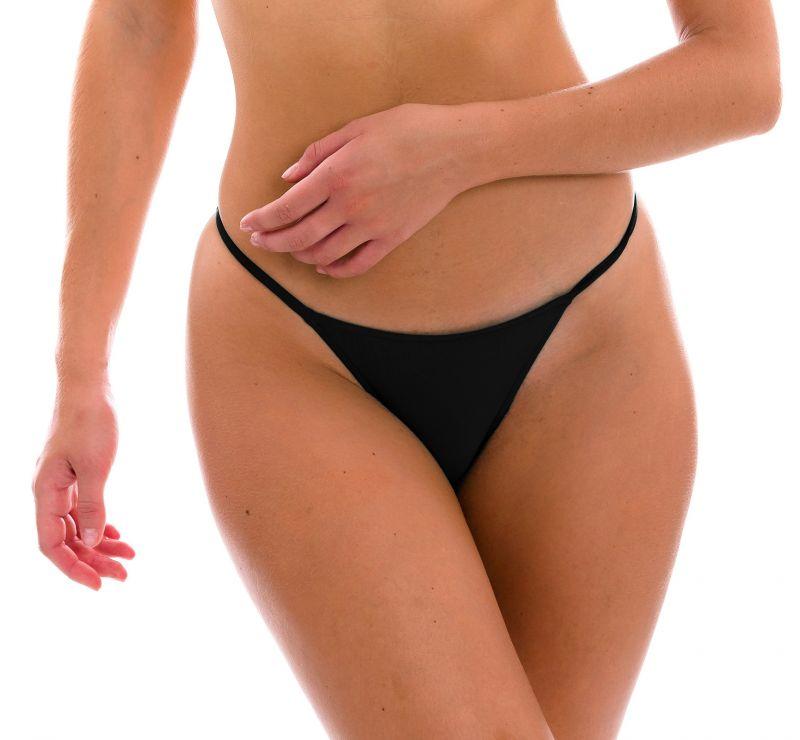 Black cheeky Brazilian bikini bottom with slim sides - BOTTOM PRETO CHEEKY-FIXA
