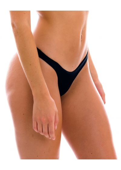 Black high leg bikini bottom - BOTTOM PRETO HIGH-LEG