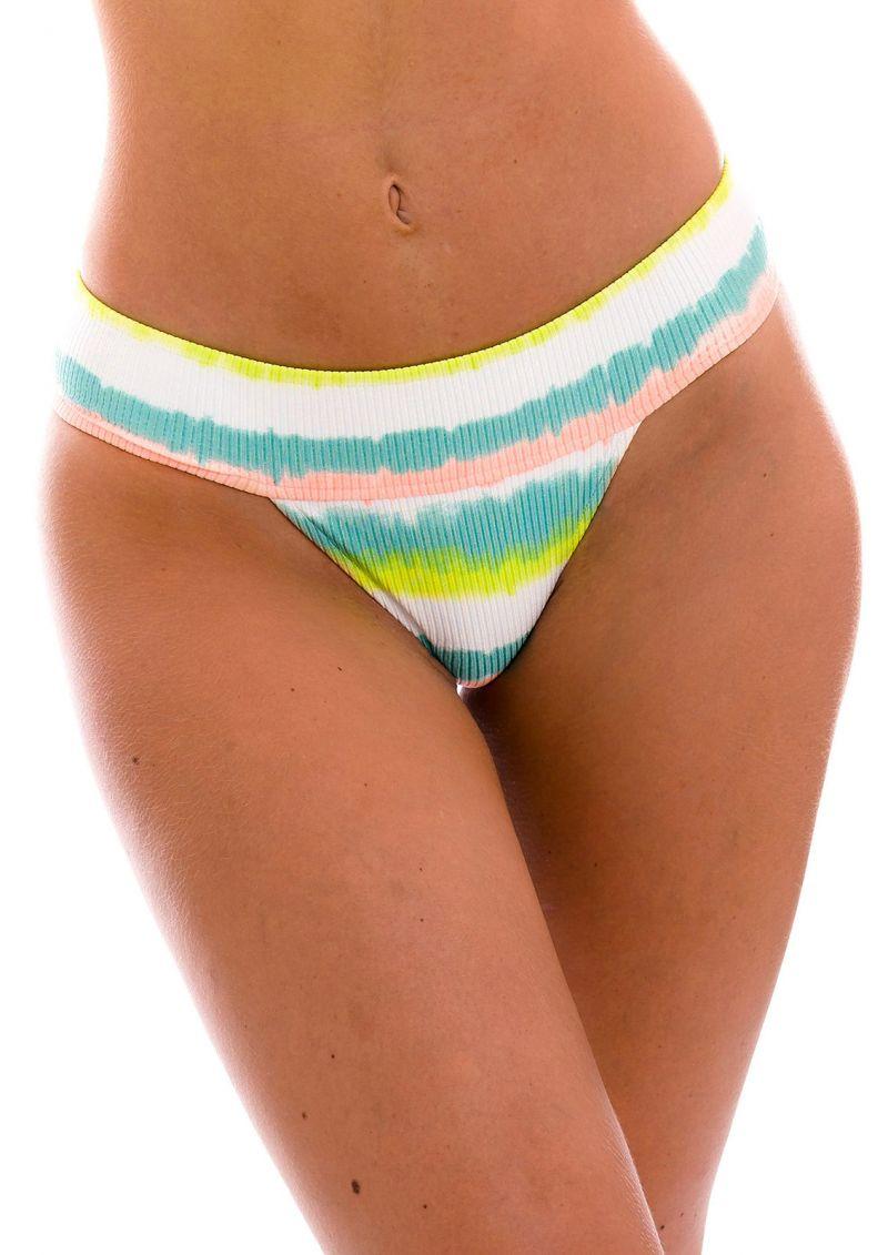 Tie-dye striped wide waist bikini bottom - BOTTOM REVELRY RIO-COS