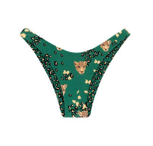 Tanga fixe vert motif léopard réversible - BOTTOM ROAR-GREEN HIGH-LEG