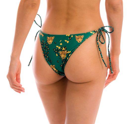 Green leopard print Brazilian bikini bottom - BOTTOM ROAR-GREEN IBIZA
