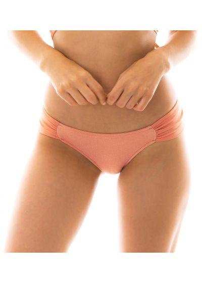 Peach-pink fixed bikini bottom - BOTTOM ROSE TRANSPASSADO
