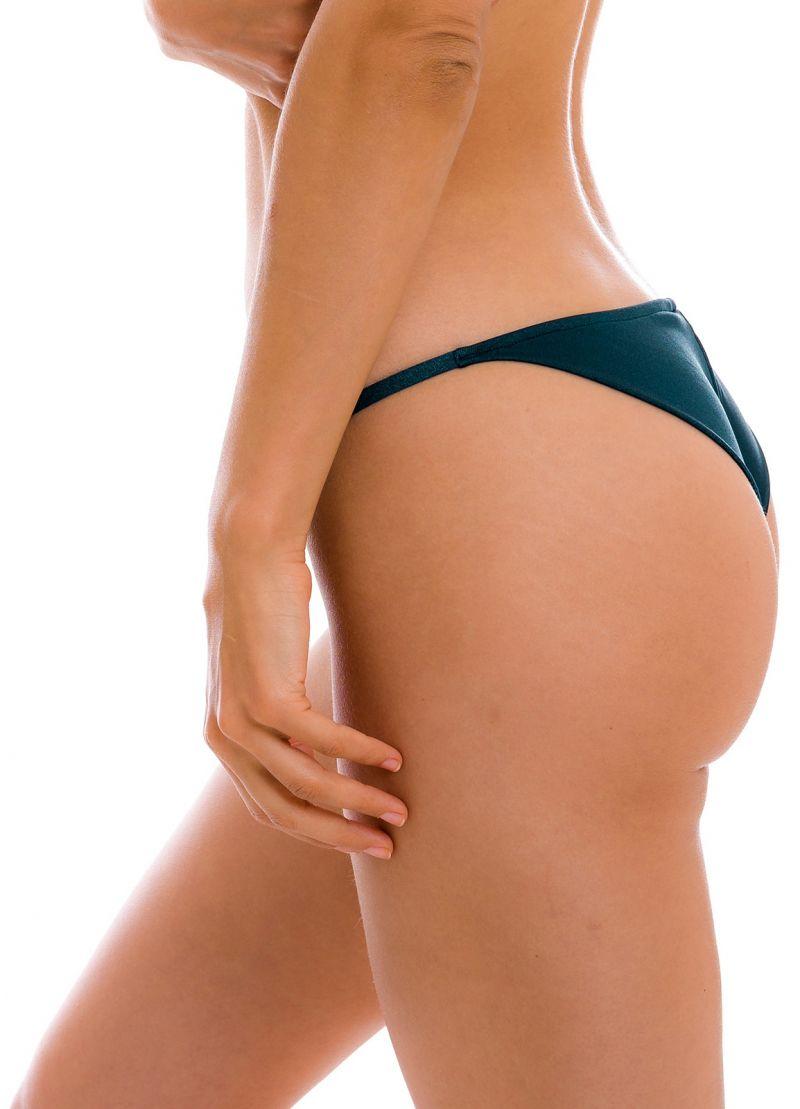 Iridescent midnight blue cheeky Brazilian bikini bottom with thin sides - BOTTOM SHARK CHEEKY-FIXA