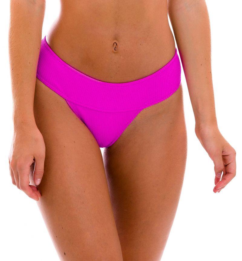 Plain magenta pink wide waist fixed bikini bottom - BOTTOM ST-TROPEZ-PINK RIO-COS