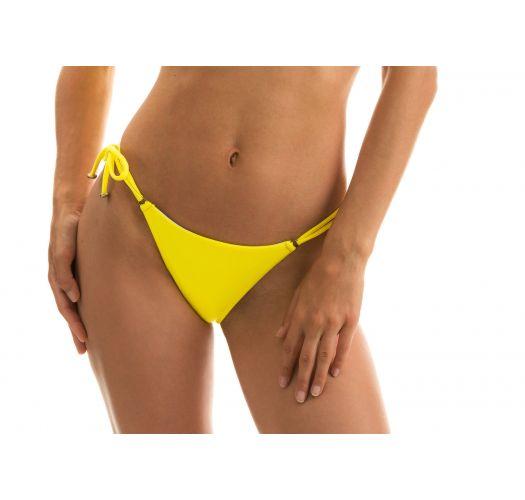 Lemon yellow side-tie bikini bottom - BOTTOM STREGA BRA