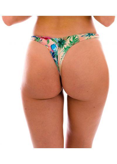 Colorful tropical thong bikini bottom - BOTTOM SUNSET FIO