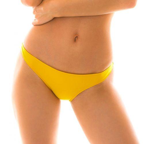 Нерегулируемые трусики жёлтого цвета в бразильском стиле - BOTTOM TEMPERO CORTINAO