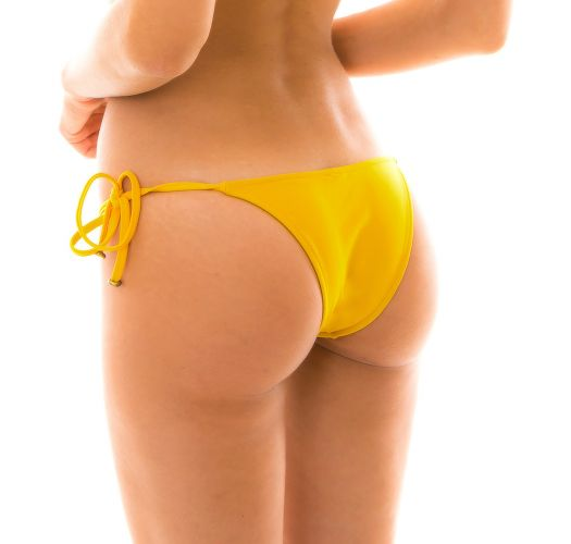 Бразильские плавкишафраново-желтого цвета с украшениями - BOTTOM TEMPERO LACINHO