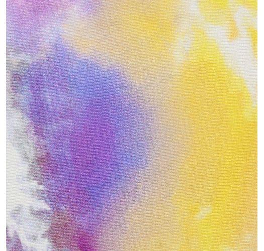 Paars/geel tie dye stringbroekje - BOTTOM TIEDYE-PURPLE FIO