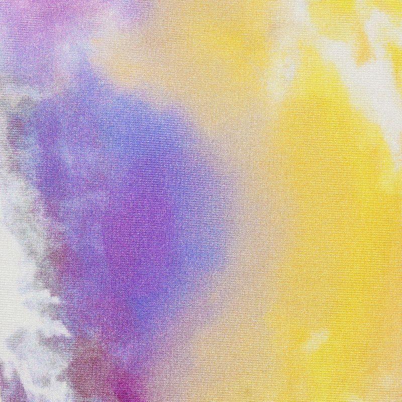 Purple & yellow tie-dye high-leg bikini bottom - BOTTOM TIEDYE-PURPLE HIGH-LEG