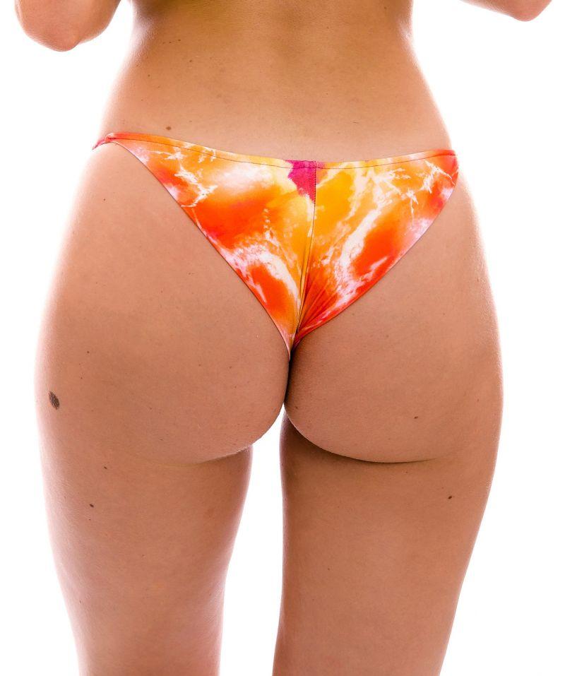 Bas brésilien cheeky côtés fins tie dye rouge/orange - BOTTOM TIEDYE-RED CHEEKY-FIXA